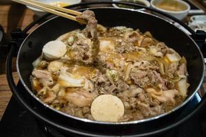 japansk sukiyaki kruka foto
