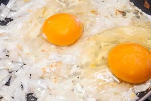 stekt ägg foto