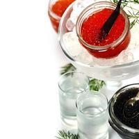 vodka och kaviar foto