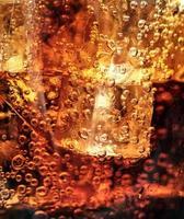 cola med is. makro foto