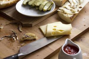 smörgåsingredienser foto