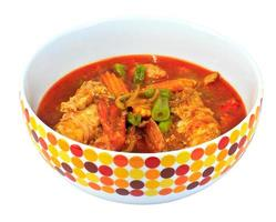 räkor curry thailändsk mat foto