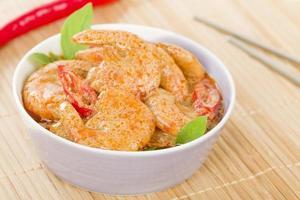 thai röd räkor curry