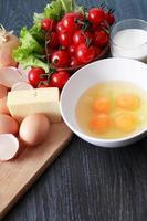omelettmatlagning foto