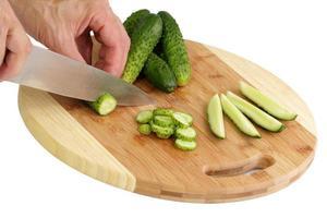 matlagning gurkor foto