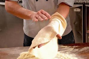 matlagning pizza. foto