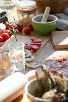 matlagning pizza foto