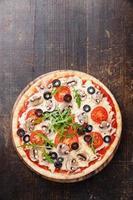 pizza med svamp