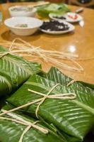 beredning av majs tamales foto