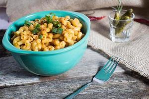 veganmakaroner och ost hälsosamt foto