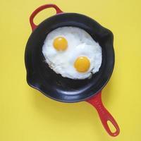 bakade ägg foto