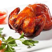 bakad kyckling foto