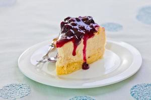 söt tårta med glass foto