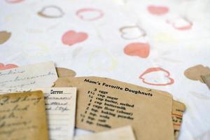 receptkort med plats för kopia foto