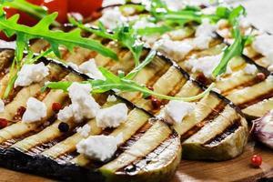 grillad aubergine med fetaost
