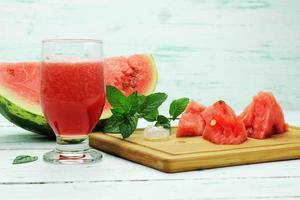 vattenmelons juice foto