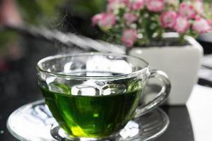 grönt te - lagerbild foto