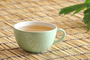 vitt te med ginseng foto