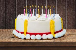 födelsedag, födelsedagstårta, tårta foto