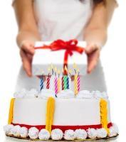 födelsedagstårta, tårta, födelsedag foto