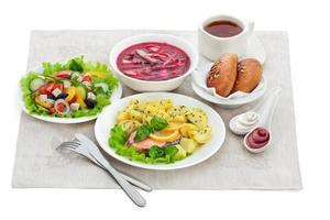 traditionella middagsmat foto