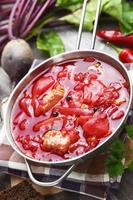 borsh. rysk traditionell maträtt foto