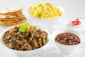 söt lamm curry foto