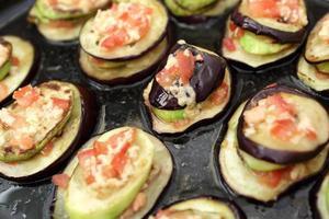 bakad aubergine foto