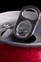 öppen burk coca cola