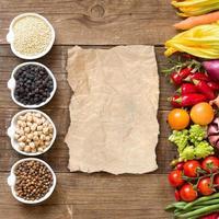 spannmål, baljväxter och grönsaker foto