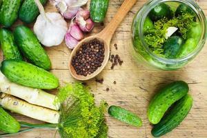 hembakade pickles foto