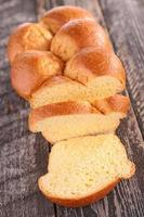 bröd, brioche foto