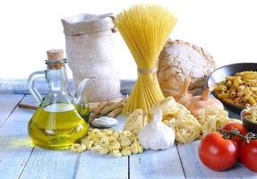 pastaingredienser. foto
