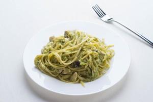 färsk varm spagetti