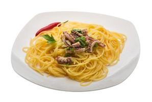 pasta med bläckfisk foto