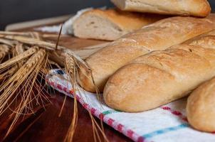 franska baguetter foto