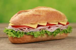 sub smörgås med skinka foto