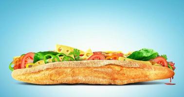 enorm smörgås foto