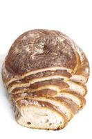 välsmakande färskt bakad brödbulle baguette naturlig mat foto