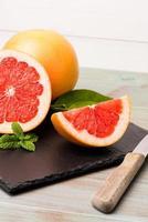mogen grapefrukt foto