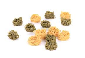 tagliatelle italiensk pasta. foto