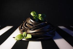 svart pasta foto