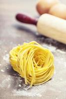 färsk pasta foto