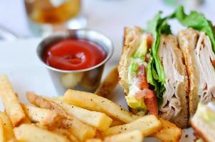 Turkiet club sandwich foto
