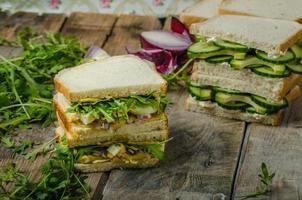 hälsosam vegetarisk smörgås foto