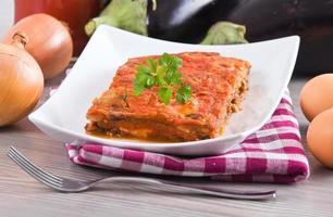 aubergine parmigiana. foto