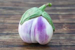 vit aubergine foto