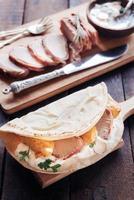 tortilla smörgås foto