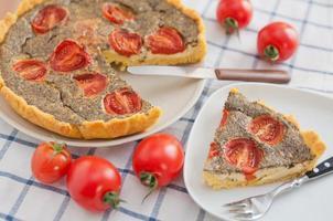 tomat basilika quiche foto