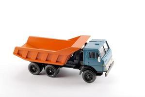insamlingsskalamodell av dumperbilen foto